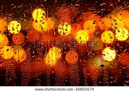 Water drops on window