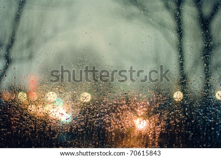 Stock Photo Water drops on window. Abstraction