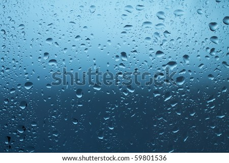 water drops on window after rain