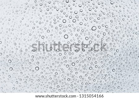 Water drops or rain droplets on glass. #1315054166