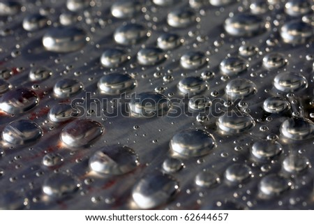 water drops, selective focus