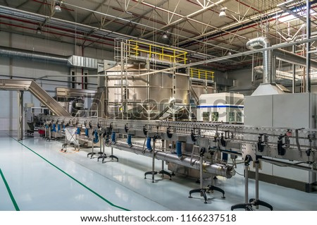 Water factory - Water bottling line for processing and bottling #1166237518