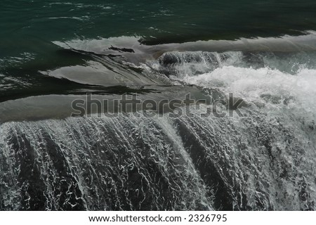 Water fall in British Columbia, where salmon migrates