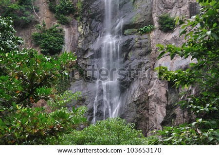 Water fall in deep forest,Thailand.