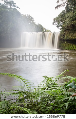 water fall, water fall, Paksong district  travel location