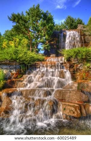 Water falls - stock photo