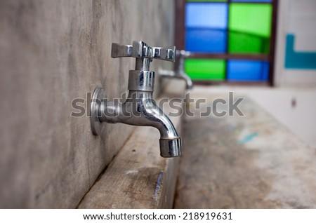 water faucet in public