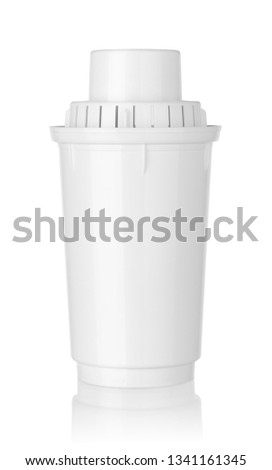 Water filter cartridge isolated on white background #1341161345