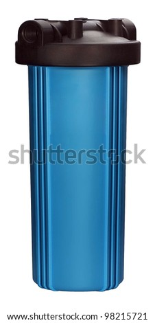 Water filter for clean drinking water isolated