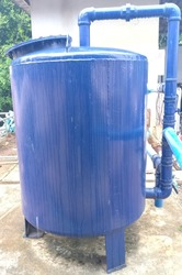 Water filter tank of the water supply system