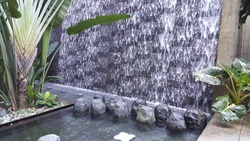 Water flow at one of a mall in Singapore