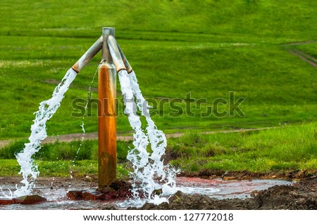Water flowing from outdoor tap and getting wasted