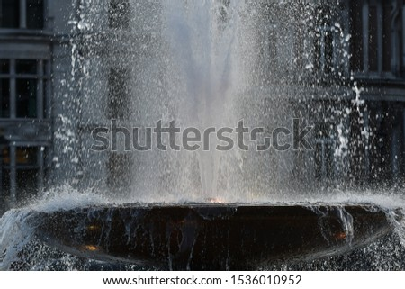 Water fountain at Trafalgar Square London #1536010952