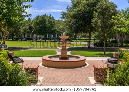 Water Fountain in Baldwin Park Orlando Florida