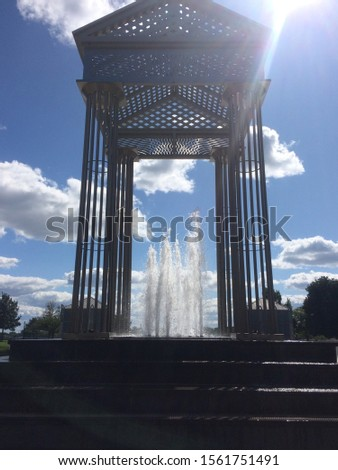 Water fountain in Trenton, New Jersey. #1561751491
