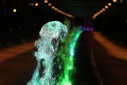 water fountain lighting park beauty