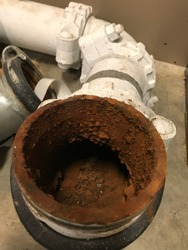 Water galvanized pipe with corrosion