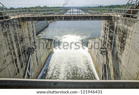 Water gate of dam