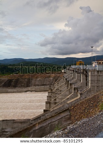 Water gate of Kwai Noi Dam in Phitsanilok, Thailand