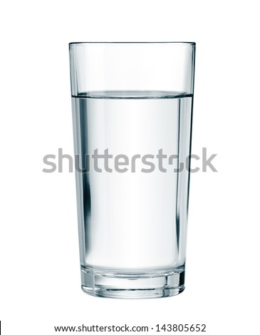 water glass isolated with clipping path included - Shutterstock ID 143805652