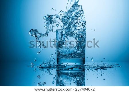 water glass splash ストックフォト ©