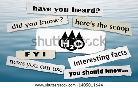 Water H20 Drinkable Clean Resource News Headlines Big Announcement 3d Illustration