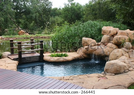 Water hole swimming pool - stock photo