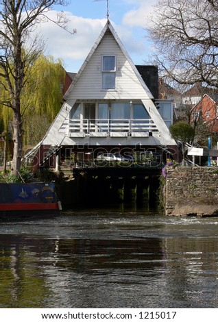 water house over a canal