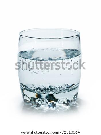 water in a clear glass beaker