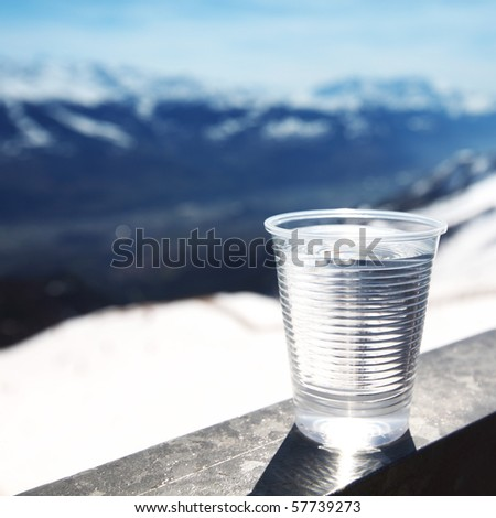 water in cup