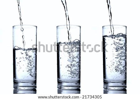 water in glass - stock photo