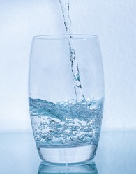 Water in glass - mineralwater in waterglass