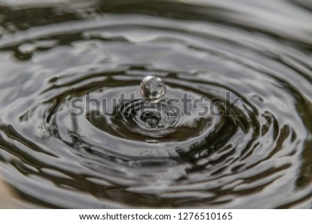 Water is a chemical compound. H2O is a water molecule composed of one oxygen atom and two hydrogen atoms bonded by covalent bonds. #1276510165