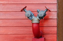 water metal hydrant pipe for fire hydrant at outdoor