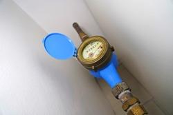 Water meter . Close up image .