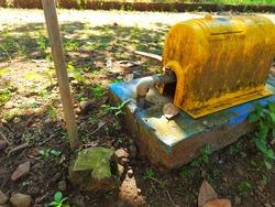 water meter pump in the countryside
