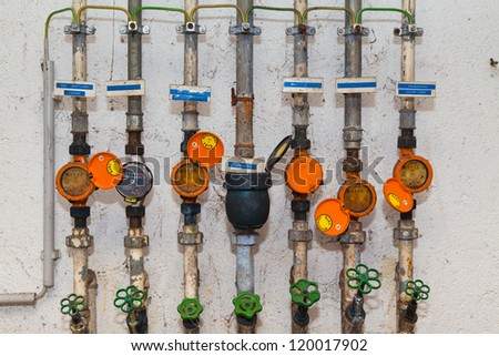 Water meters and pipes