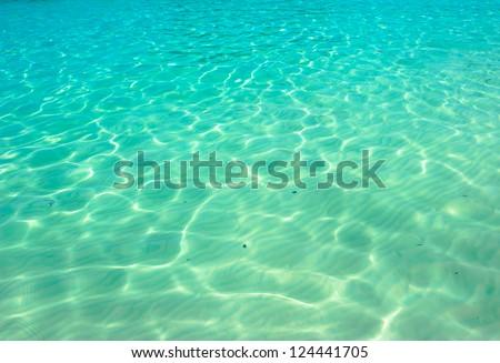 Water ocean background. Clear blue ripple aqua texture  #124441705