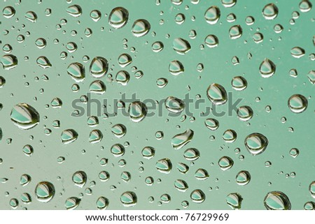 Water on glass surface after rain