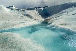 Water on the glacier