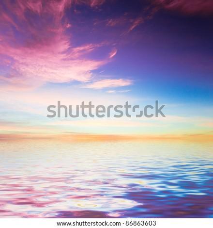 Water Panorama Idyllic Paradise