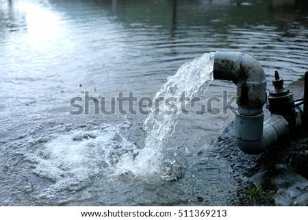 Water pipe in water field.