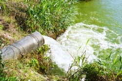 water pipe lake pollution
