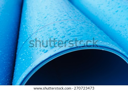 Water pipe with raindrops