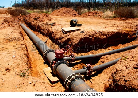 Water Pipeline Maintenance in the Ground Foto stock ©