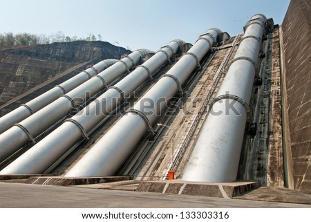 Water pipeline to Hydro-Electric power station