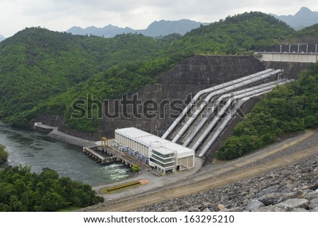 Water pipes in a hydroelectric power station