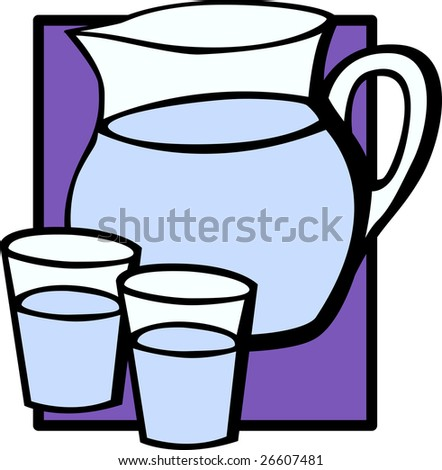 water pitcher jar and glasses