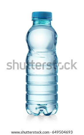 water plastic bottle isolated on white with clipping path #649504693