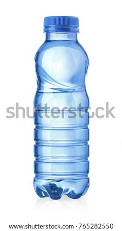 water plastic bottle isolated on white with clipping path #765282550